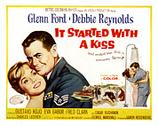 1959 Movies Framed Prints - It Started With A Kiss, Glenn Ford Framed Print by Everett