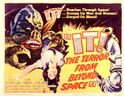 Classic Sf Posters Framed Prints - It The Terror From Beyond Space, 1958 Framed Print by Everett