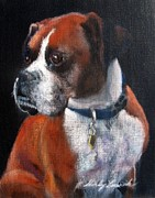 Boxer Puppy Pastels - It Wasnt My Fault by Shirley Leswick