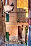 Old Houses Framed Prints - Italian alley Framed Print by Silvia Ganora