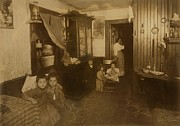 Tenements Prints - Italian American Mother With Five Young Print by Everett