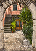 Cobble Stone Framed Prints - Italian Arch II Framed Print by Sharon Foster