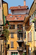 Italian Balconies Print by Malu Couttolenc