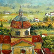 Chris Brandley Paintings - Italian Basilica by Chris Brandley