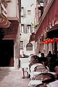 Dine Digital Art - Italian Bistro - Venice by Greg Sharpe