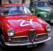 Rally Metal Prints - Italian Classics Alfa Romeo Metal Print by Patrick English