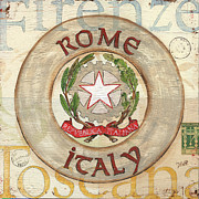 Rome Painting Posters - Italian Coat of Arms Poster by Debbie DeWitt