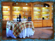 Vino Framed Prints - Italian Country Kitchen Framed Print by Donna Blackhall