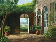 Villa Paintings - Italian Courtyard by Jim Horton