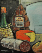 Italian Wine Paintings - Italian Deli by Tim Nyberg