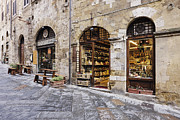 Workplace Photo Framed Prints - Italian Delicatessen or Macelleria Framed Print by Jeremy Woodhouse