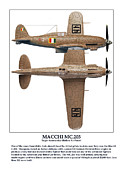 World War Two Photo Posters - Italian Fighter Macchi Poster by Jerry Taliaferro