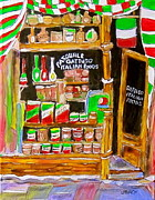 Store Window Display Paintings - Italian Food Store by Michael Litvack