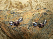 Space Ships Jewelry - Italian Glass Sky Blue and Purple by Dancing StarInc
