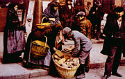 Italian Immigrants Selling Bread Print by Everett