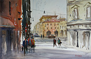 City Streets Painting Framed Prints - Italian Impressions 2 Framed Print by Ryan Radke