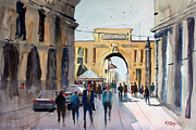 Rome Cityscape Paintings - Italian Impressions 4 by Ryan Radke