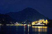 Italian Landscape Posters - Italian Lakes at Twilight Poster by Andrew Soundarajan