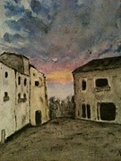 Italian Sunset Originals - Italian Landscape by Nicla Rossini