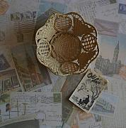 Basket Photo Originals - Italian Old Lace Basket by Marsha Heiken