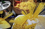 Food And Drink Art - Italian pastas at restaurant window display by Sami Sarkis