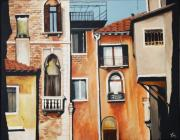 Terra Paintings - Italian Rear Window by Carrie Auwaerter