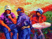 Fauvist Paintings - Italian Retirement by Marion Rose