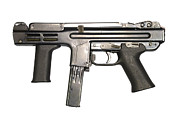 Firearms Photo Posters - Italian Spectre M4 Submachine Gun Poster by Andrew Chittock