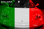 Transportation Metal Prints - Italian Stallion . 2000 Ferrari 360 Modena F1 Metal Print by Wingsdomain Art and Photography