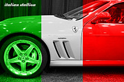 Italian Flag Posters - Italian Stallion . 2003 Ferrari 575M Poster by Wingsdomain Art and Photography