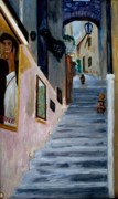 Steps Painting Originals - Italian Steps by Keith Bagg