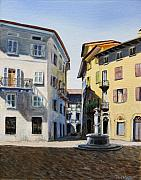Ally Painting Framed Prints - Italian street Framed Print by Paul Walsh