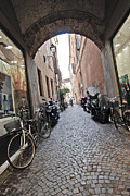 Cobble Stone Framed Prints - Italian Street Framed Print by Robert Ponzoni