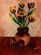 Italian Night Life Prints - Italian Tulips Print by Kapal-Lou