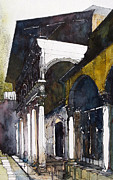 Villa Paintings - Italian Villa by David Carlson