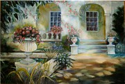 Villa Paintings - Italian Villa by Geri Jones