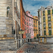 City Street Scene Art - Italian Village 2 by Debbie DeWitt