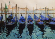 Boats In Water Paintings - Italian Waters by Terry Honstead