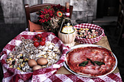 Food And Beverage Prints Posters - Italiano Poster by John Rizzuto