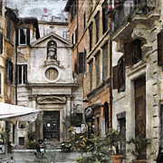Rome Mixed Media - Italy arty by Lutz Baar