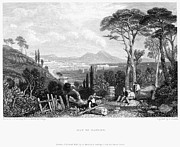 Italian Landscape Photo Prints - Italy: Bay Of Naples, 1832 Print by Granger