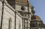 Florence Framed Prints - Italy, Florence, Facade Of Duomo Santa Framed Print by Sisse Brimberg & Cotton Coulson