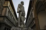 Italy, Florence, Sculpture Of Gercules Print by Sisse Brimberg & Cotton Coulson