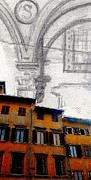 Buildings Tapestries - Textiles - Italy by Kimberly Simon