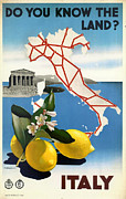 Lemons Framed Prints - Italy Framed Print by Nomad Art And  Design