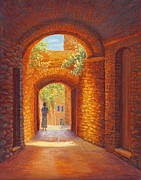 New Hampshire Artist Prints - Italy Passages Print by Elaine Farmer