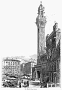 Italian Shopping Framed Prints - ITALY: SIENA, 19th CENTURY Framed Print by Granger