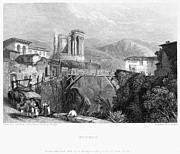 1832 Framed Prints - Italy: Tivoli, 1832 Framed Print by Granger