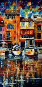 Canal Street Paintings - Italy Venice by Leonid Afremov