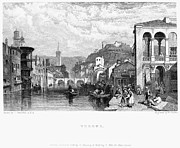 1833 Framed Prints - Italy: Verona, 1833 Framed Print by Granger